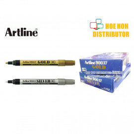 image of Artline Metallic Gold / Silver 2.3mm Permanent Marker EK - 900XF
