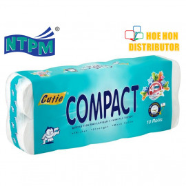 image of Cutie Compact Multipurpose Toilet Facial Hygiene Tissue 180g / 1.8kg 10 Roll