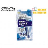 image of Gillette Blue 3 Ice Disposable Razor 4 Unit Value Pack / Pisau Cukur