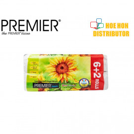 image of Premier Disposable Household Kitchen Towels 60 Sheets X 6 Roll + 2 Roll