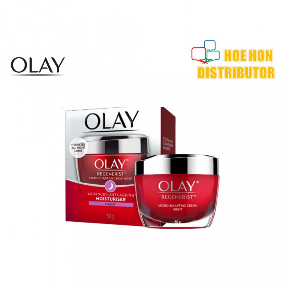 Olay Regenerist Micro Sculpting Cream Night Advanced Anti-Ageing Moisturiser 50g