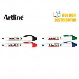 image of Artline Clix Retractable Whiteboard Marker 2.0mm EK - 573A / 4.0mm EK - 593A