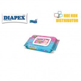 image of Diapex Soft Baby Wipe Wet Tissue / Tisu Basah Bayi 80 Sheet