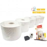 image of Petrol Station Pump Printer Thermal Paper Roll 57mm X 70mm X 12mm X 5Rolls
