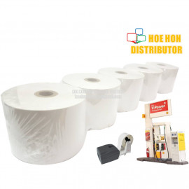image of Petrol Station Pump Printer Thermal Paper Roll 57mm X 70mm X 12mm X 5Rolls
