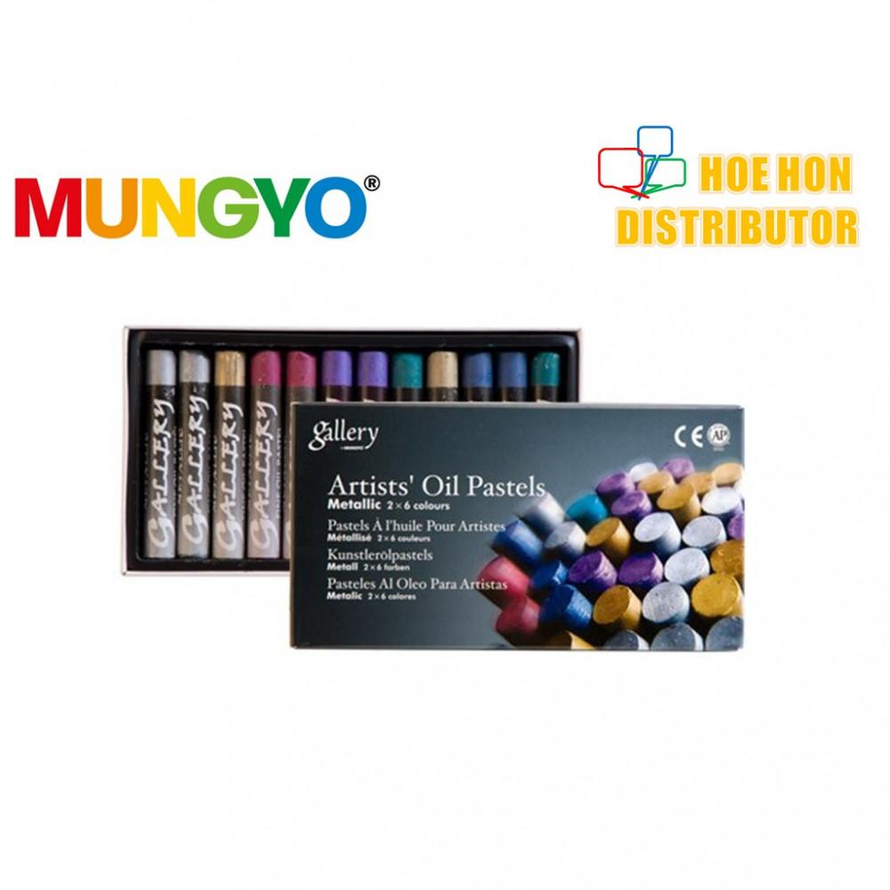 Mungyo Gallery Artists Oil Pastel 2 X 6 Metallic Color / Colour MOP-12M