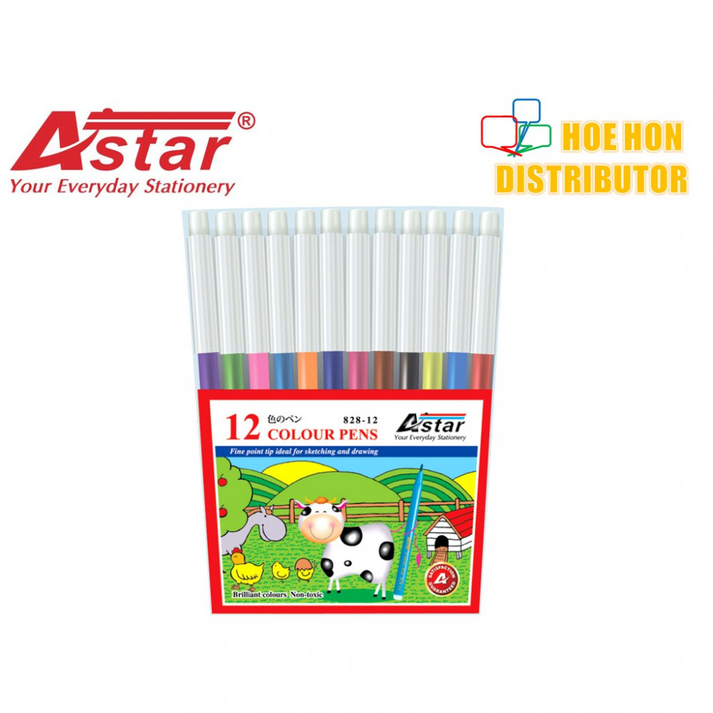 Astar Magic Pen 12 Color (Faber-Castell Colour Pen Alternative)