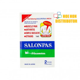 image of Salonpas Pain Relieving Patch 13cm X 8.4cm Large Patch 2pcs (Neobun Patch)
