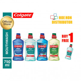 image of Colgate Plax Mouth Rinse Wash 750ml Free 250ml