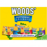 Woods Extra Strong Lozenges Sore Throat Peppermint Drops Sugar Free Sakit Tekak