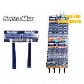 image of Supermax / Super-Max Twin Blade Disposable Razor / Pisau Cukur AC01