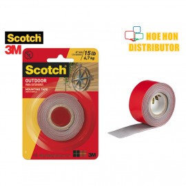 image of 3M Scotch Outdoor Mounting Tape 6.7kg 2.54cm X 1.52m / 1 Inch X 60 Inch