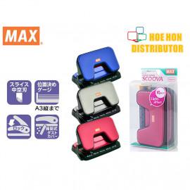 image of MAX Scoova Light Effort 2 Hole Paper Punch / Puncher 12 Sheet DP-15T DP90331