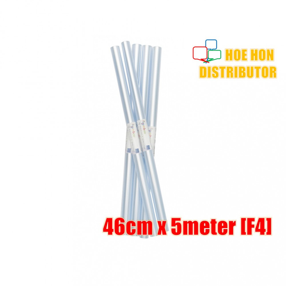 Transparent Plastic PVC Book Cover Wrap Roll / Pembalut Buku F4 46cm X 5 Meter
