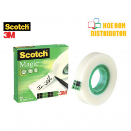 image of 3M Scotch Magic / Invisible Tape 12mm X 32.9m (1/2 Inch X 36 Yard)