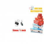 Multipurpose Binder Clips 15mm (1/2 Inch) 12pcs / Box