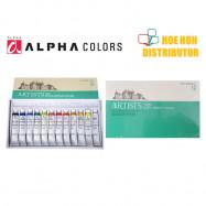 image of Artists Alpha Acrylic Colour / Color 12 Colors Set