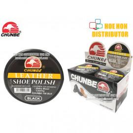 image of Chunbe Leather Black Shine Shoe Polish 45ml / Penggilap Kasut