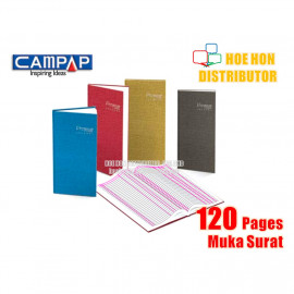 image of Campap 2 Column Hard Cover Oblong Account Book 120 Page CA 3122