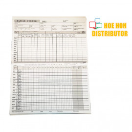 image of Buku Daftar Pekerja / Employee Register Book Keeping / Record B600 - 40