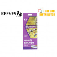 image of Reeves Fine Water Mixable Oil 12 Colour / Color Set
