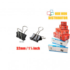 image of Multipurpose Binder Clips 32mm (1 1/4 Inch) 12pcs / Box