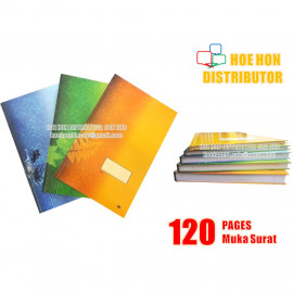 image of Hard Cover Foolscap Excercise Note Book / Buku Log Kulit Tebal F4 120 Pages