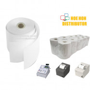 image of Cash Register Receipt Printer Paper Roll 76mm X 60mm X 12mm 2ply NCR