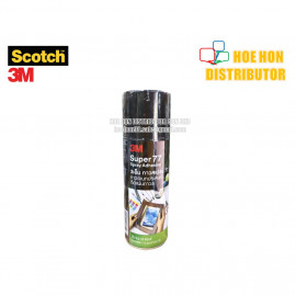 image of Scotch Super 77 Multi Purpose Permanent Adhesive Bond Spray 385g