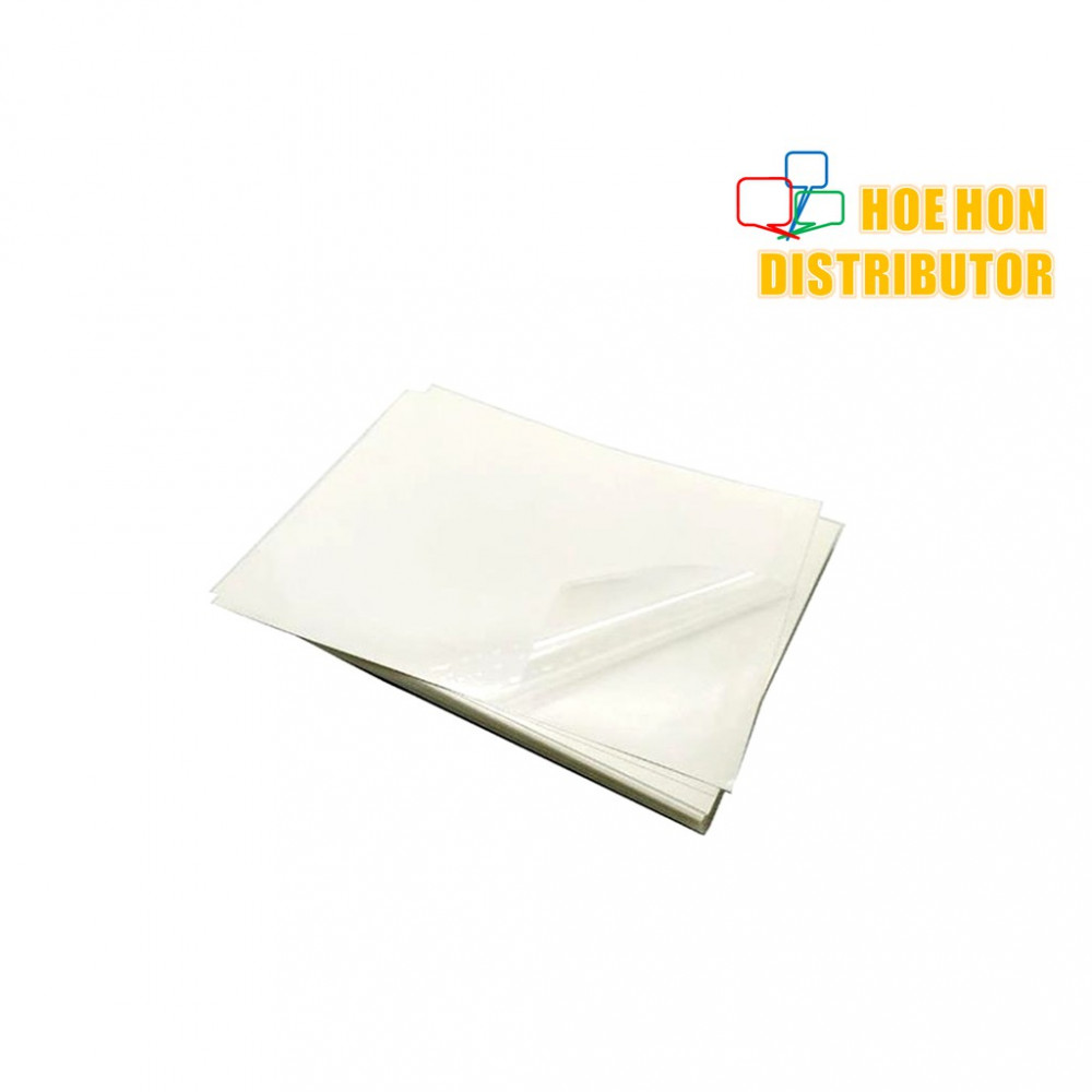 Transparent Plastic Film A4 Glossy Sticker
