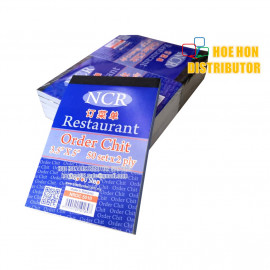 image of Restaurant Order Chit / Table Number Quick Note 3.5 X 5 Inch 50 Set X 2ply NCR