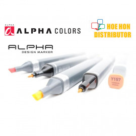 image of Alpha Twin Head Design Marker (Full Customize Color)