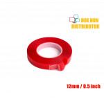 DIY / Car / Furniture Double Side Acrylic Clear / Transparent Tape 12mm X 1m