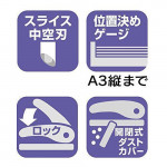 MAX Scoova Light Effort 2 Hole Paper Punch / Puncher 28 Sheet DP-35T DP90336
