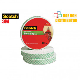 image of 3M Scotch Permanent Mounting Tape 19mm X 8.89m (3/4 Inch X 9.72 Yard)