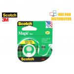 3M Scotch Magic Tape With Dispenser 12.7mm X 11.4m (1/2 Inch X 12.5 Yard)