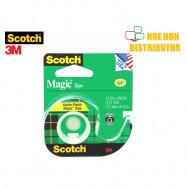 image of 3M Scotch Magic Tape With Dispenser 12.7mm X 11.4m (1/2 Inch X 12.5 Yard)