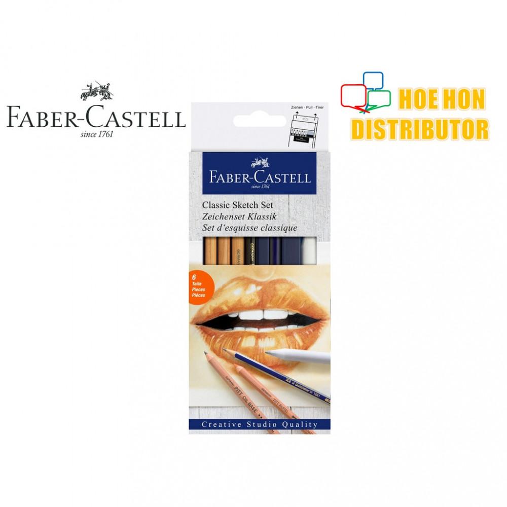 Faber - Castell 6pc Classic Sketch Set