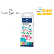 image of Faber-Castell / Faber Castell 6 Pitt Artist Pen Hand Lettering Pastel Set