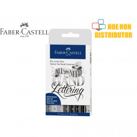 image of Faber-Castell / Faber Castell Pitt Artist Pen Starter Set Hand Lettering
