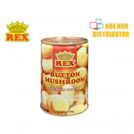 image of Rex Button Mushroom Canned Food / Tin Cendawan 425g HALAL