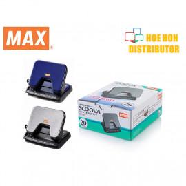 image of MAX Scoova Light Effort 2 Hole Paper Punch / Puncher 20 Sheet DP-25T