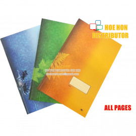 image of Hard Cover Foolscap Exercise Note Book / Buku Log Kulit Tebal F4