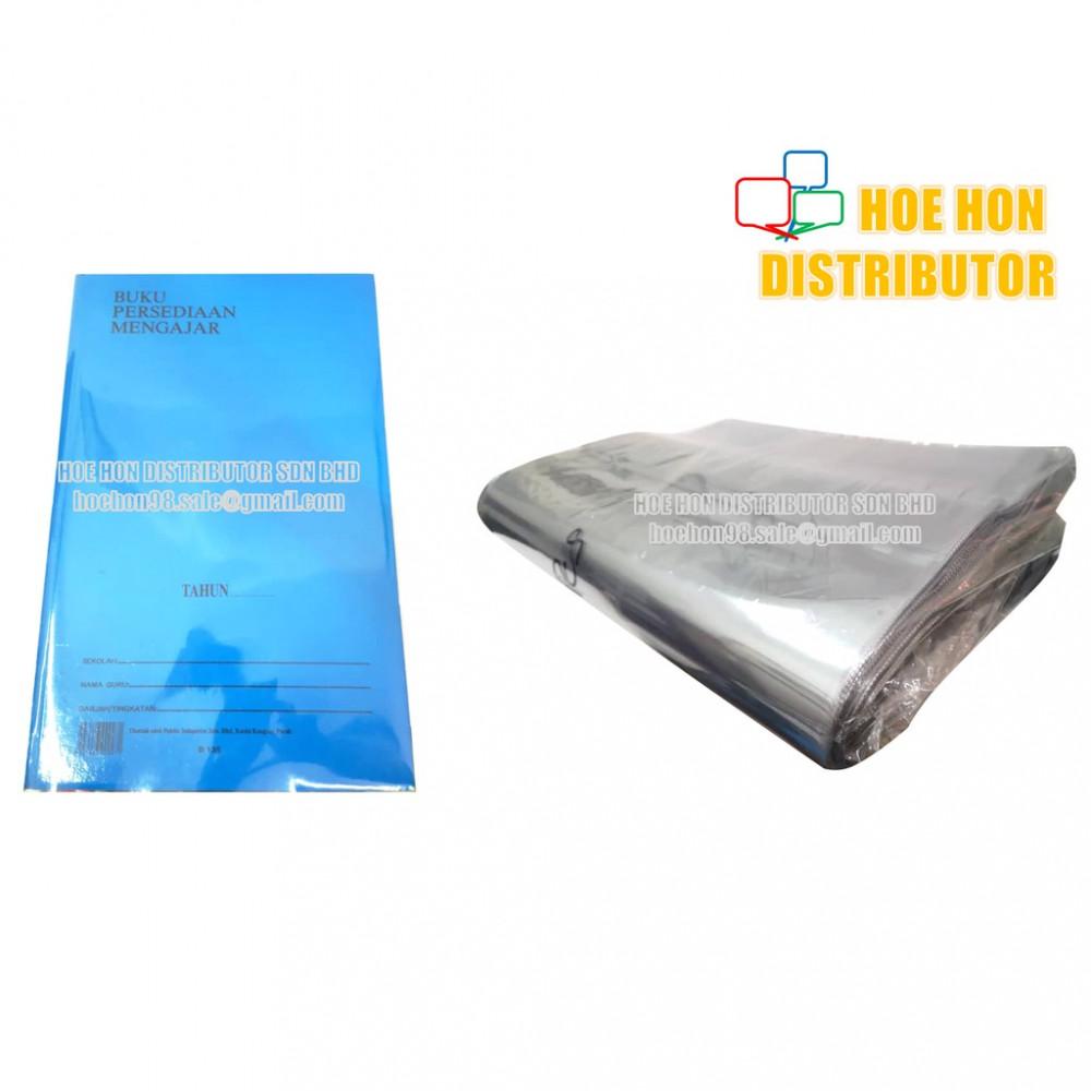 Transparent Plastic PVC Book Cover Wrap Sheet/ Pembalut Buku Persediaan Mengajar