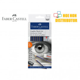 image of Faber - Castell Goldfaber Graphite Sketch / Drawing Set 8 Piece