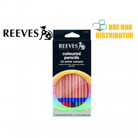 image of Reeves Coloured Pencils 12 Artist Color / Colour Pencil (Pencil Warna) 8910112