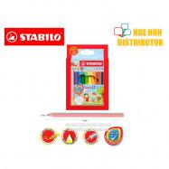 image of Stabilo Swans Colour Pencil 12 Short Half Length