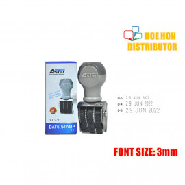 image of Rubber Date Stamp D5 Font Size 3mm