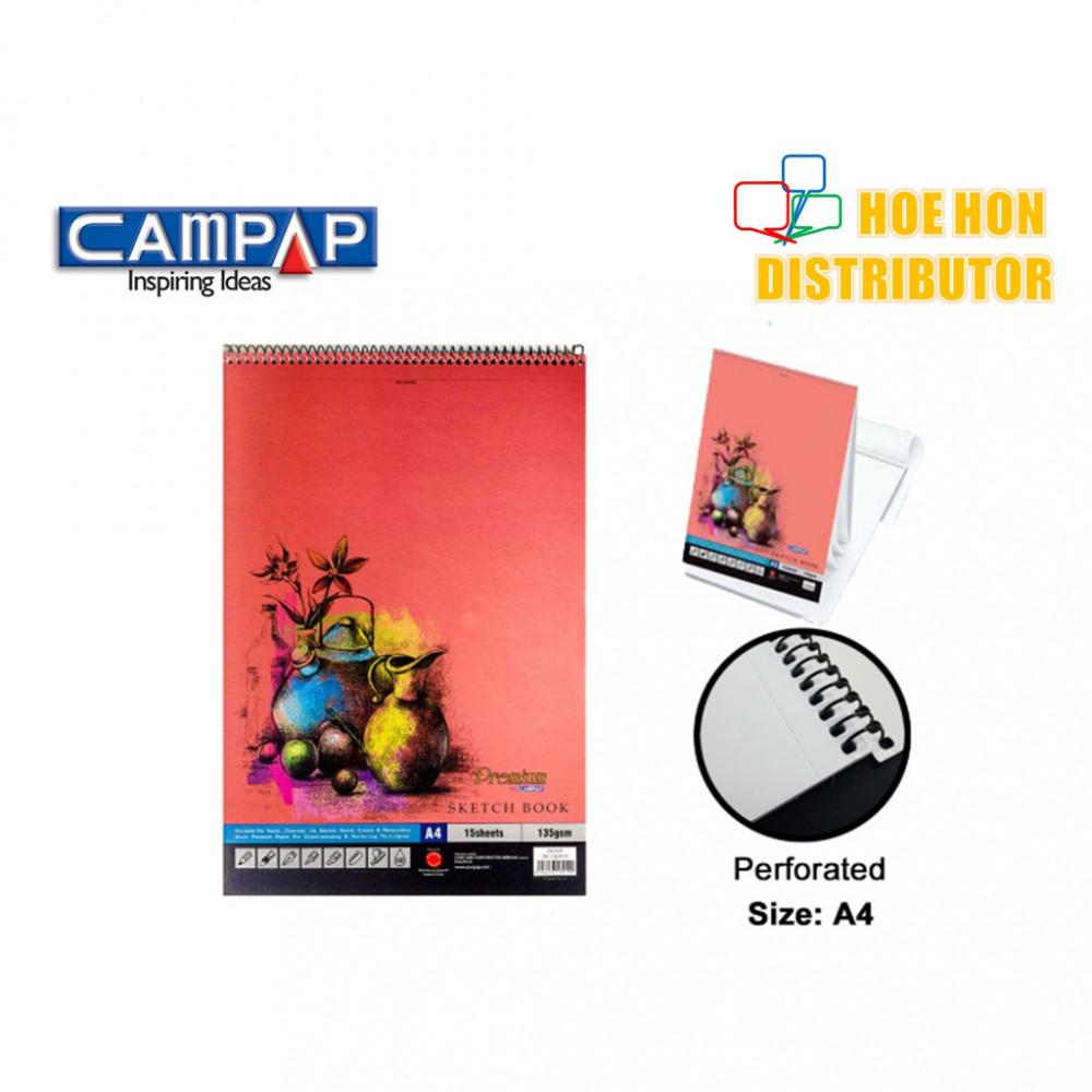CAMPAP Spiral A4 Sketch Book 135gsm 15 Sheet CA 3219