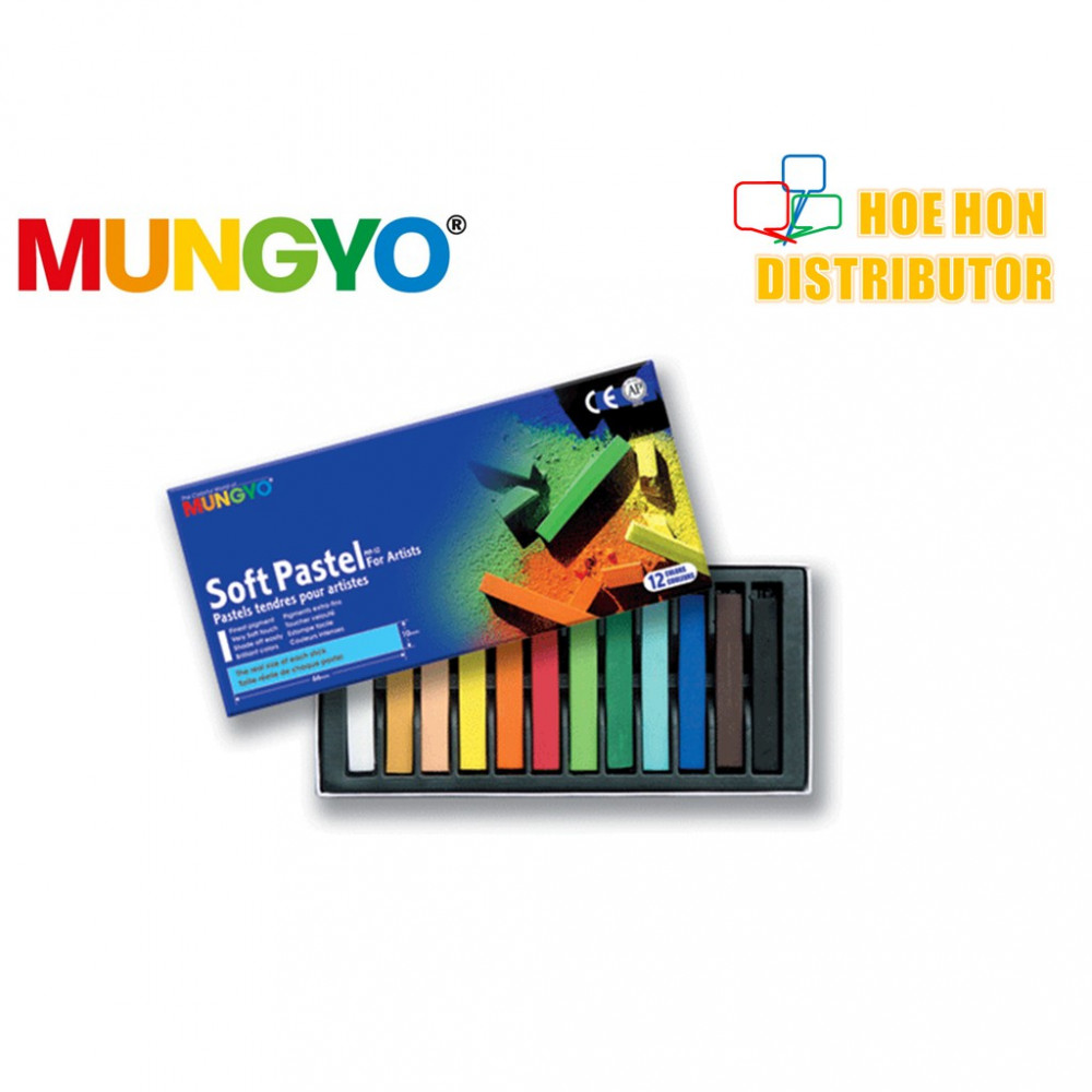 Mungyo Soft Pastel For Artist 12 Color (Full Length) MP-12